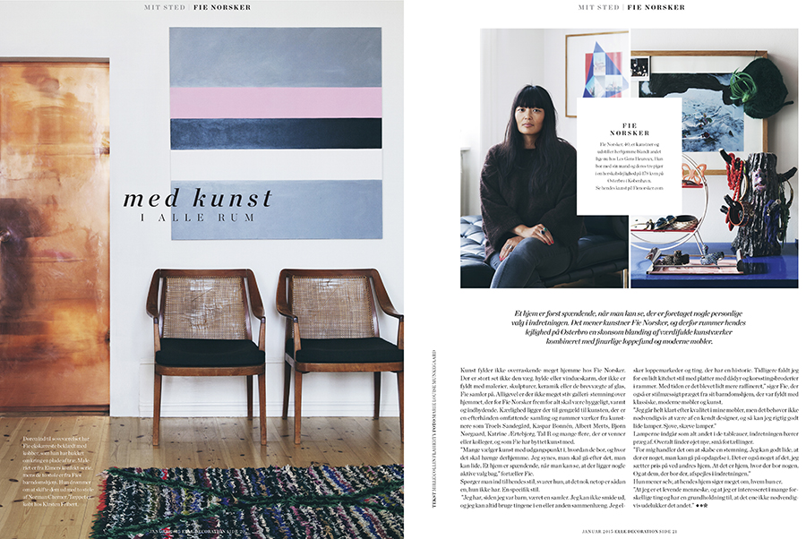 Marie Louise Munkegaard; Photographer; Elle decoration, Elle decoration dk, Fie Norsker, Copenhagen; Denmark