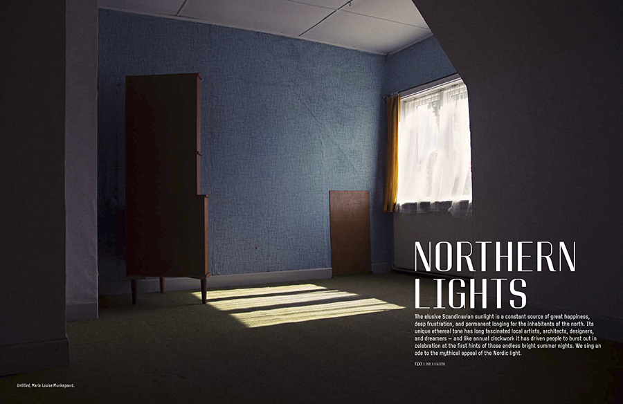 Marie Louise Munkegaard; Photographer; Northern Light, Oak The Nordic Journal, Copenhagen; Denmark