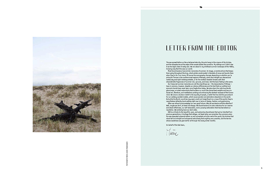 Marie Louise Munkegaard; Photographer; Oak The Nordic Journal, Copenhagen; Denmark